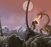 Sigurd and Fafnir by Crusader