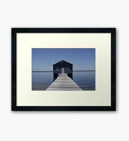 Crawley Edge Boatshed Framed Print