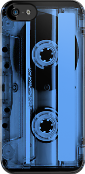 Cassette Tape Blue by CaseBase
