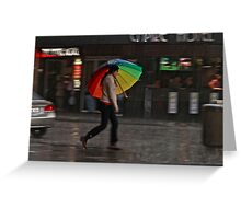 Without the rain, there would be no rainbow Greeting Card