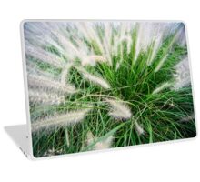 Flowering rush grass on a river bank  Laptop Skin