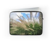 Flowering rush grass on a river bank  Laptop Sleeve