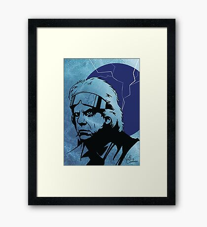 'The Doc' from Back To The Future Framed Print
