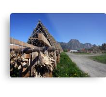 Scenic Cod in the Lofoten Islands, Norway Metal Print