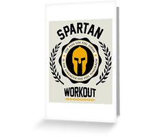 Spartan Workout Greeting Card