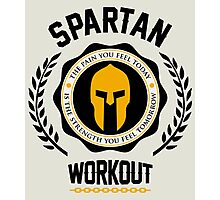 Spartan Workout Photographic Print