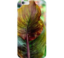 Natural Backgrounds - Green and red patterns on a leaf  iPhone Case/Skin