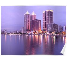 Colorful Love River at Night Poster