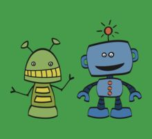 robot friends Kids Tee