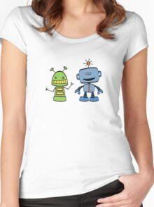 robot friends Women's Fitted Scoop T-Shirt