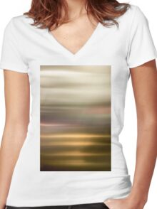 Golden Abstract brilliant colorful abstract Women's Fitted V-Neck T-Shirt