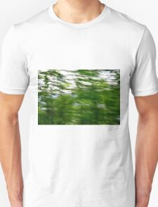 Lush green trees with motion blur  Unisex T-Shirt