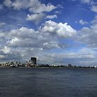 Melbourne Panorama With Spirit Of Tasmania by Noel Elliot