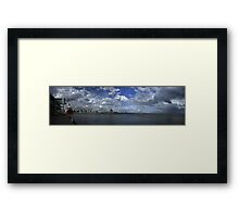 Melbourne Panorama With Spirit Of Tasmania Framed Print