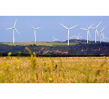 Wind Towers in the Sky Photographic Print
