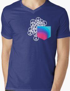Peace Pocket Mens V-Neck T-Shirt