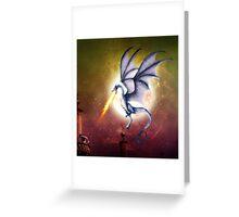 dragon battle Greeting Card
