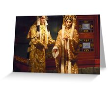 Ancient Cantonese Opera Costumes Greeting Card