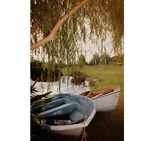 2 little boats Photographic Print