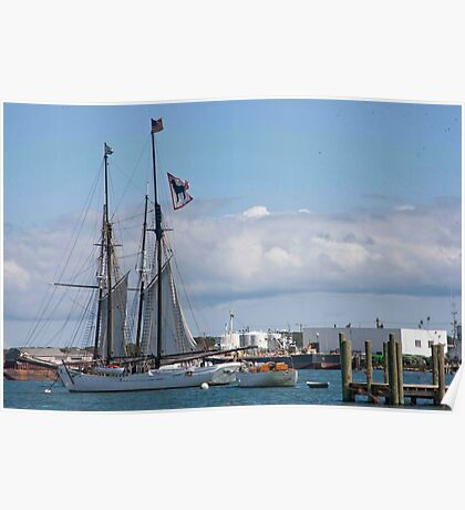 Black Dog Tall Ship Poster