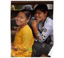 beautiful Balinese girls Poster