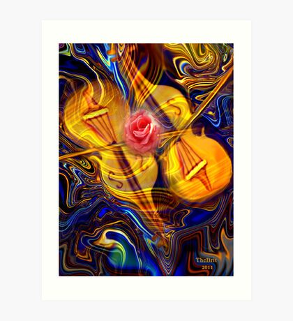 The Gift of Music and Love Art Print