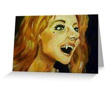 Ingrid Pitt as Countess Dracula Greeting Card