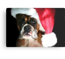 Christmas Boxer dog Metal Print