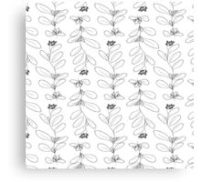 Hand drawn delicate decorative vintage leaves Canvas Print