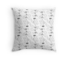 Hand drawn delicate decorative vintage leaves Throw Pillow