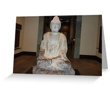 A Peaceful Serene Buddah Greeting Card