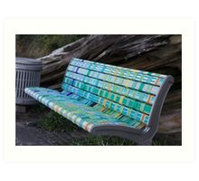 MULTI - COLOURED BENCH SEAT Art Print