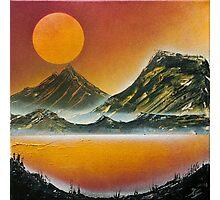 Josh Griffin - Moonlit Mountains Photographic Print
