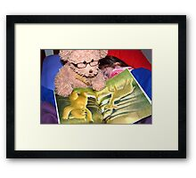 The Bear Reading To His Friend Framed Print