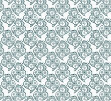Traditionall portuguese Viana's heart and azulejo tiles by Ana Marques