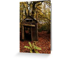 Old Shed in the Woods Greeting Card