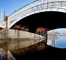 Princess Bridge Panorama Melbourne by Russell Charters