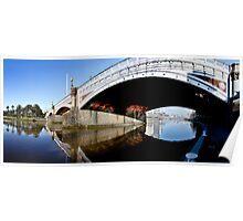 Princess Bridge Panorama Melbourne Poster