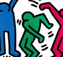 Keith Haring -People dance- Sticker