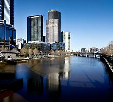 Southbank Melbourne Panorama by Russell Charters