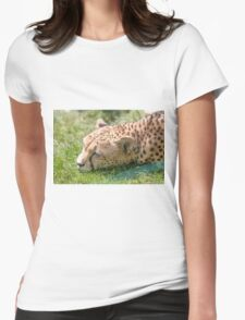 leopard at the zoo Womens Fitted T-Shirt