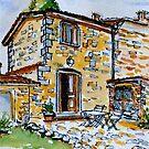 La Vigna. Anghiari. Tuscany. by Elizabeth Moore Golding