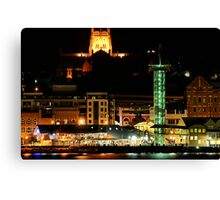Newcastle Harbour by Night - NSW Australia Canvas Print