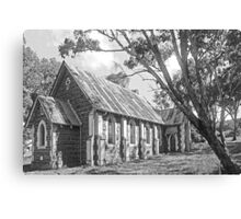 Church at Bookham B&W Canvas Print