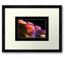Low light waterfall Framed Print