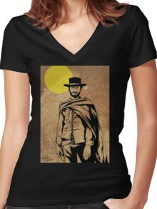 Cowboy legend - Clint Eastwood / Dirty Harry minimalist Women's Fitted V-Neck T-Shirt