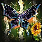 BUTTERFLY WITH SUNFLOWER by Tammera