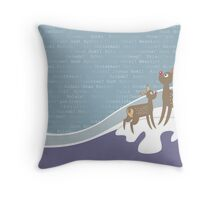 reindeers wishes Throw Pillow