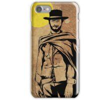 Cowboy legend - Clint Eastwood / Dirty Harry minimalist iPhone Case/Skin