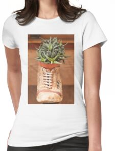 succulent plant in the vase Womens Fitted T-Shirt